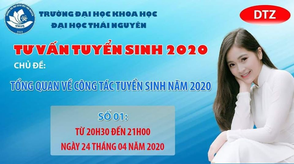"""LIVESTREAM SỐ 1: """"TNUS - TỔNG QUAN VỀ CÔNG TÁC TUYỂN SINH 2020"""""""